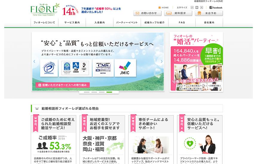【フィオーレ】人気のおすすめ結婚相談所の特徴と口コミ・評判情報!